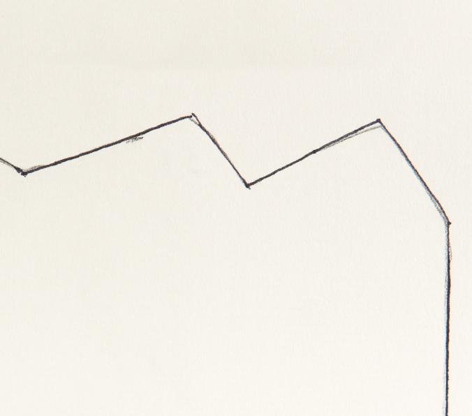 Zeichnung, o.T., 1988, 11x16 cm, Bleistift auf Papier