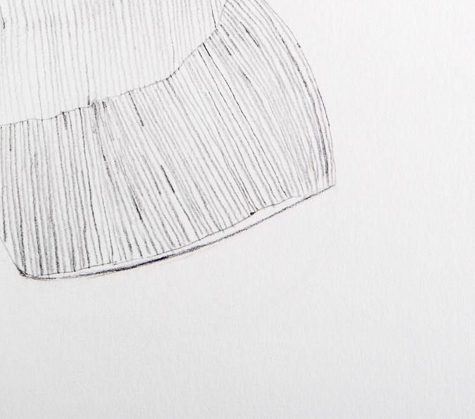 Zeichnung, für Heike, 2000, 28x30 cm, Oelkreide, Bleistift auf Papier