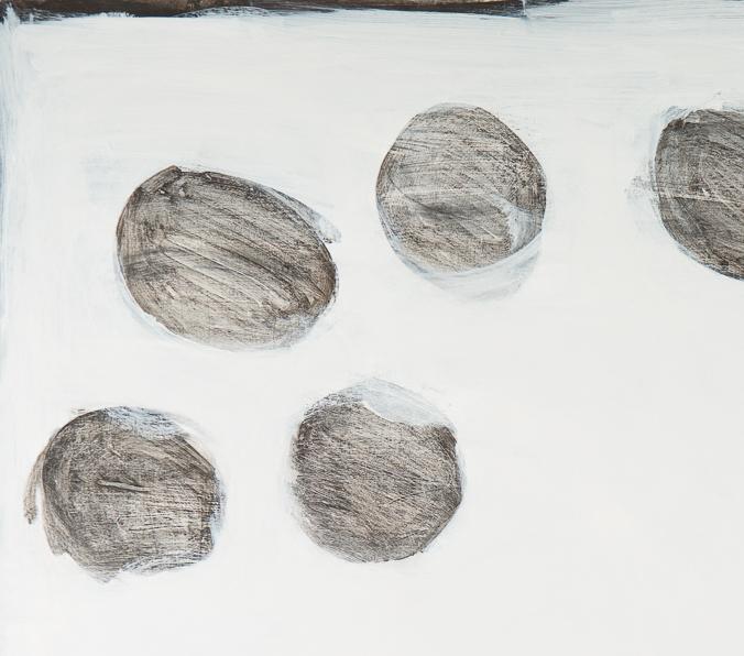 Bild, o.T., 2017, 100x80 cm, Acryl auf Karton