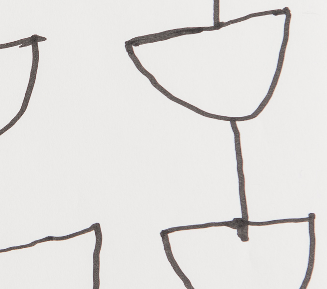 Zeichnung, o.T., 2019, 24x18 cm, Filzstift auf Papier