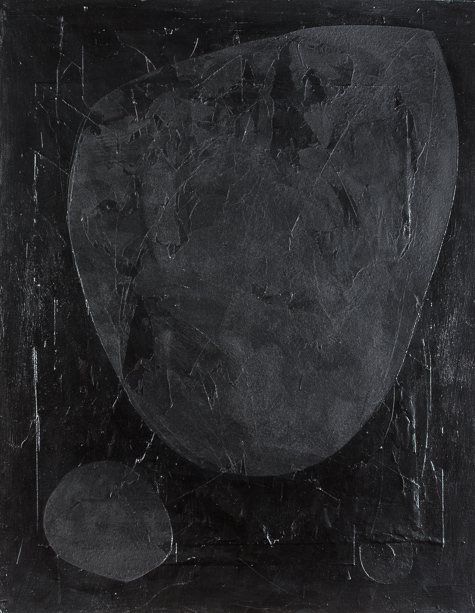 Bild, o.T., 2021, 100x80 cm, Acryl auf Karton