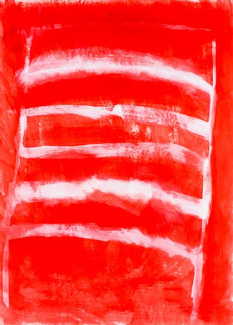 Bild, o.T., 1991, 95x70 cm, Acryl auf Karton