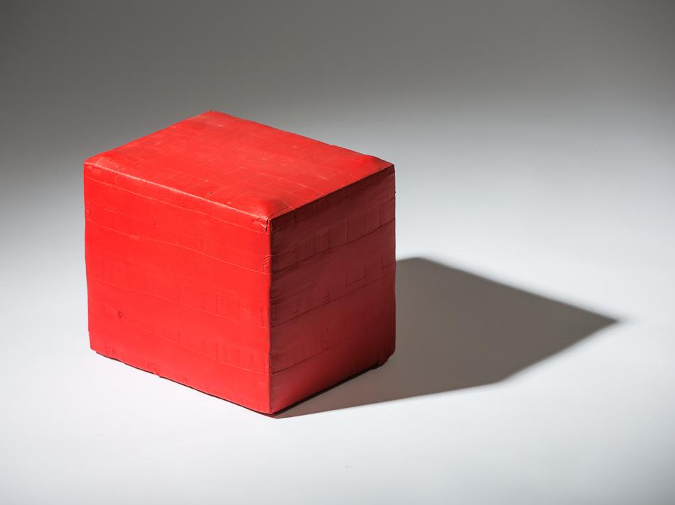 Objekt, o.T., 1991, 29x22x27 cm, Stoff, Holz, Farbe