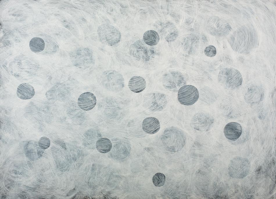 Bild, o.T., 1995, 70x95 cm, Acryl auf Karton