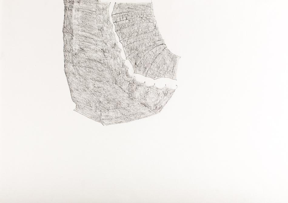 Zeichnung, o.T., 2000, 35x47 cm, Bleistift auf Papier