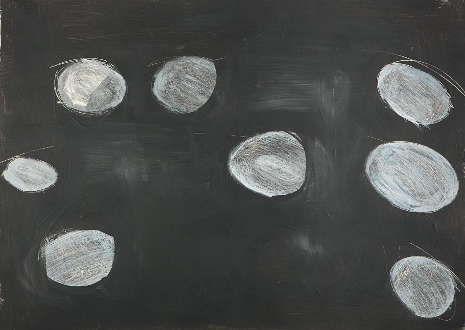 Bild, o.T., 2016, 70x95 cm, Acryl auf Karton