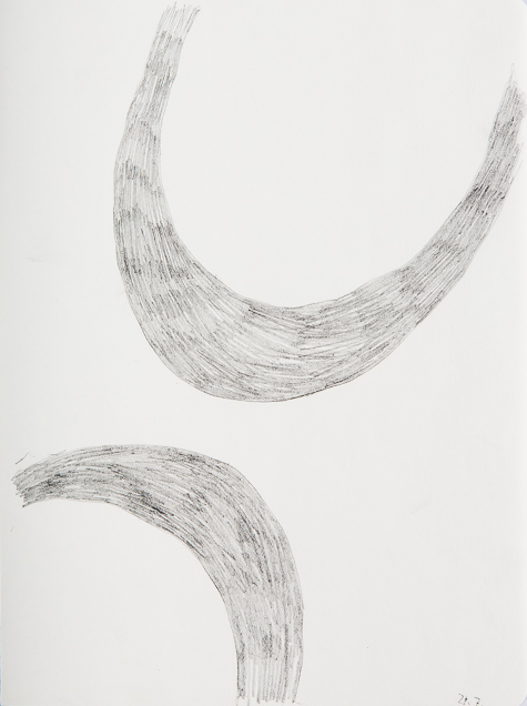 Zeichnung, o.T., 2018, 24x18 cm, Bleistift auf Papier