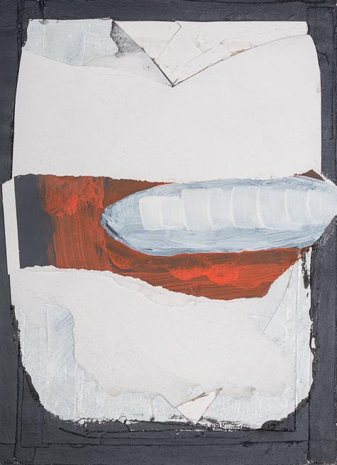 Bild, o.T., 2020, 45x34 cm, Acryl auf Papier